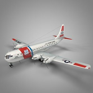boeing 377 stratocruiser coast guard 3D model