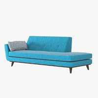 realistic joybird chaise lounge 3D model