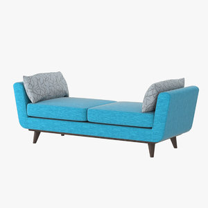 3D model realistic joybird daybed hughes