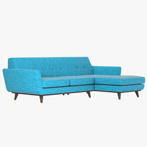 3D model realistic joybird sectional sofa