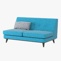 realistic joybird armless sofa 3D