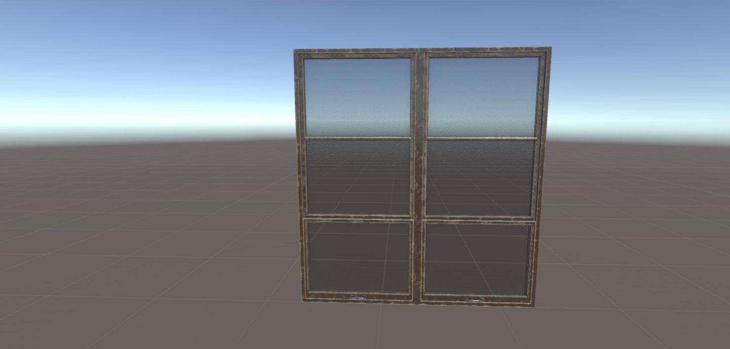 Big Wooden Window And Door