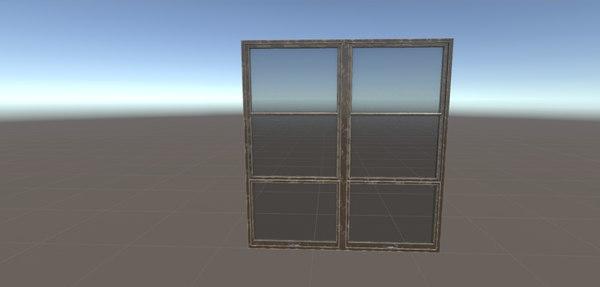 door window room props 3D model