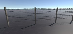3D wire fence location includes model