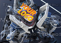 futuristic engine 3D model