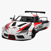 toyota supra gr racing 3D model