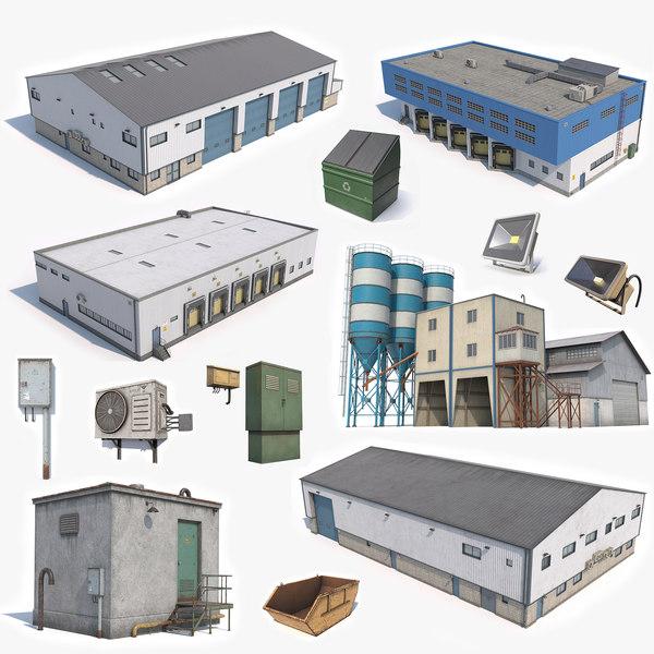 3D industrial buildings