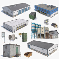 5 Industrial Buildings And Props Collection