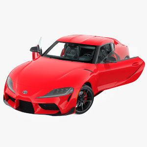 toyota supra 2019 rigged model