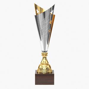 3D realistic trophy cup 10 model