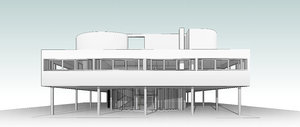 villa savoye le corbusier model