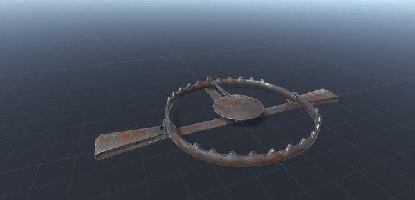 3D model metal trap