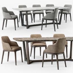 grace armchair concorde table set model