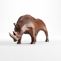 Rhinoceros low poly