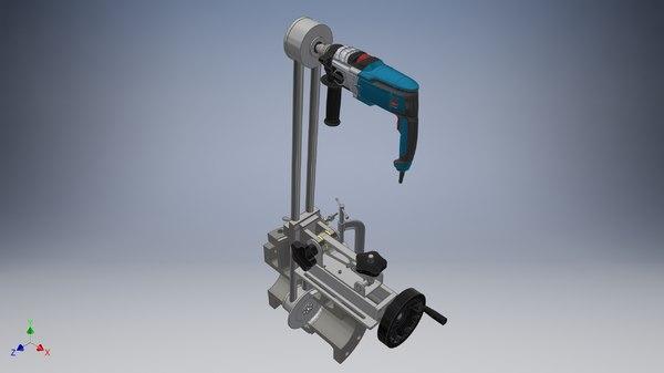 machine-vertical machine-industrial- 3D