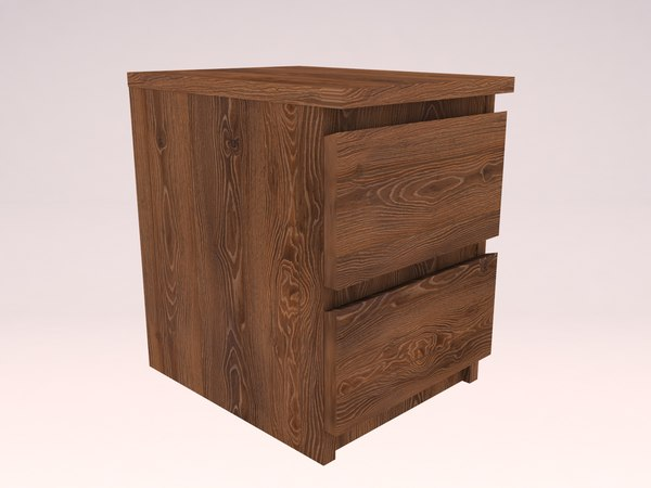 bedroom malm chest 2 3D model