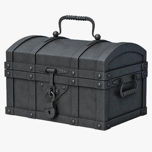 3d chest metal model