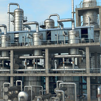 refinery industry pipes model