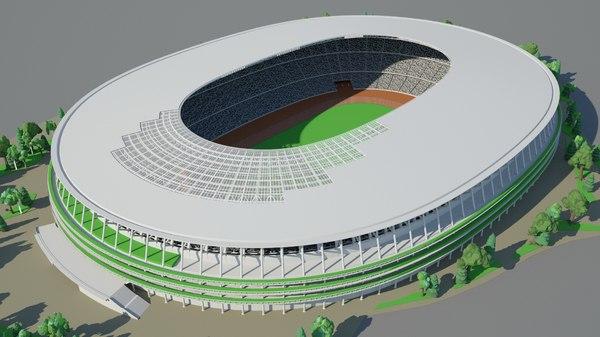 3D tokyo 2020 olympics stadium model