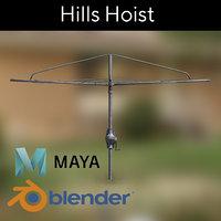 clothesline hills hoist 3D model