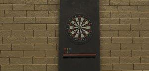 darts props 3D model