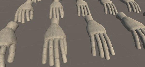 3D model dummy hand vr -