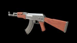 3D model rifle games kalashnikov