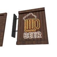 3D beer sign