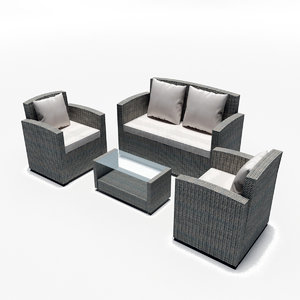 outdoor garden furniture set 3D model