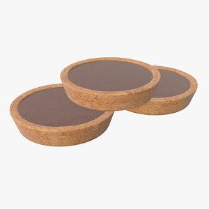 chocolate biscuit 3D model