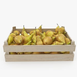 pears conference 03-06 wooden crate 3D model