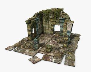 3D jungle ruins ivy