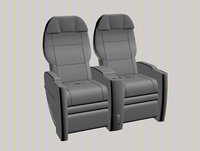airplane seat of business class