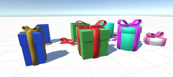 cartoon gifts 3D model
