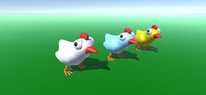 chickens 3D model