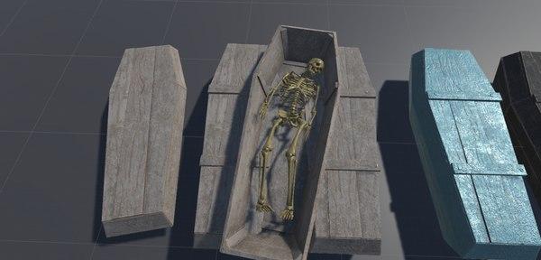 3D model coffins pack