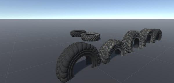3D model wheels games