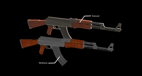 3D model rifle games kalashnikov
