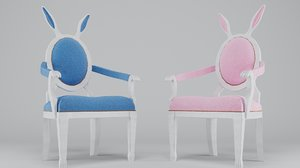 3D leather bunny kids