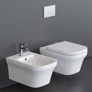 3D p3 comforts toilet wall-hung model