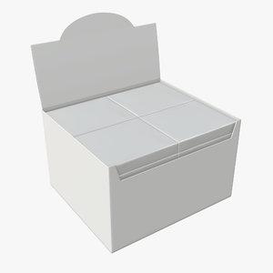 waffle wraps white 3D model