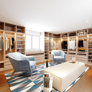 3D walk closet model