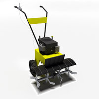 gardening cultivator 3d model