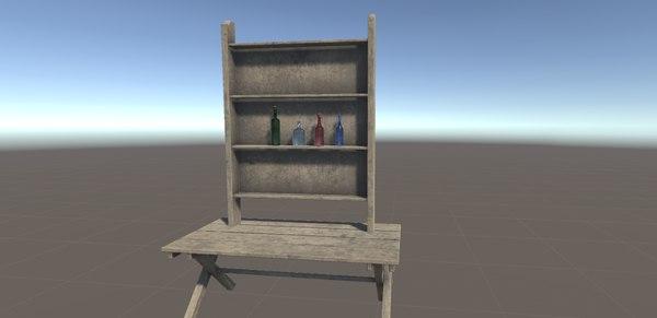 3D bottle target animation -