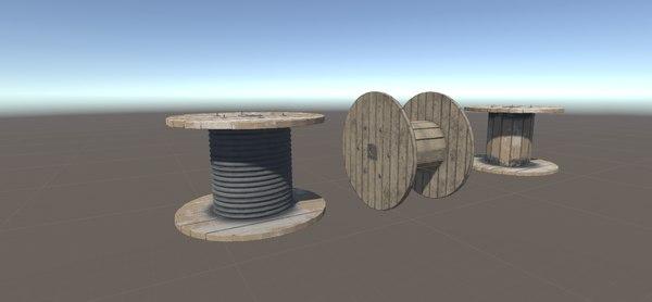 reels barrier 3D model