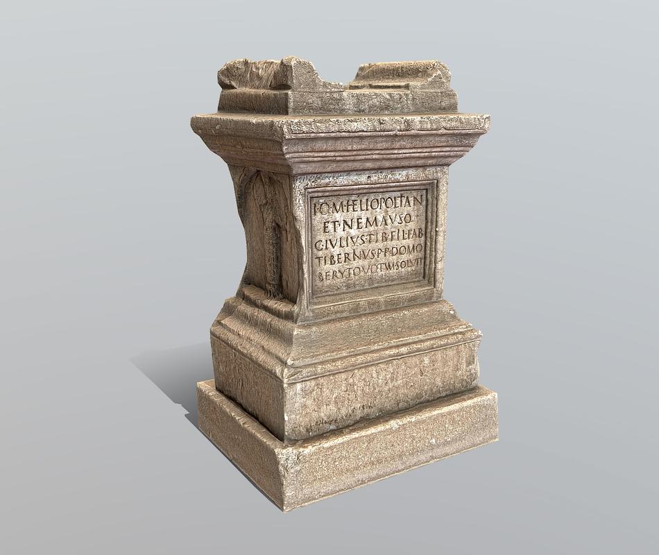 roman altar model