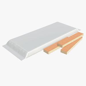 cake waffle blank model
