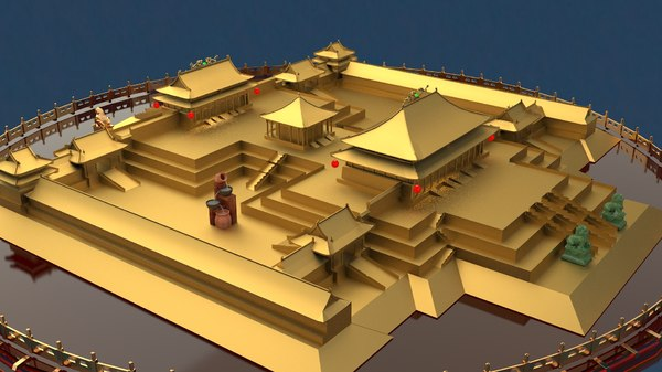 chinese forbidden city 3D
