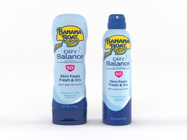 3D banana boat sunscreen spray