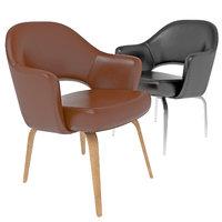 saarinen chair leather 3D model